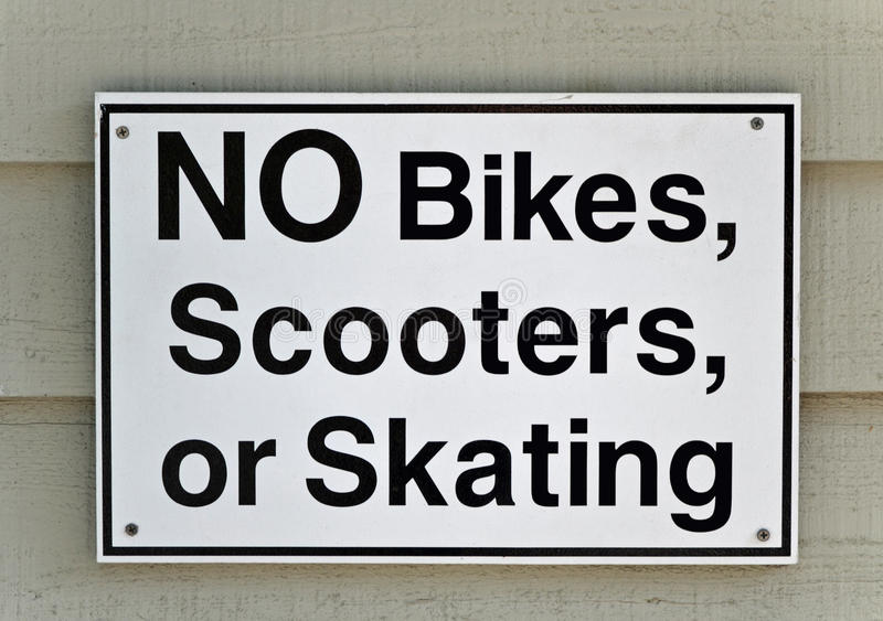 No Bikes sign stock photography