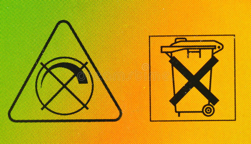 No Bins And Noise Signs Royalty Free Stock Image