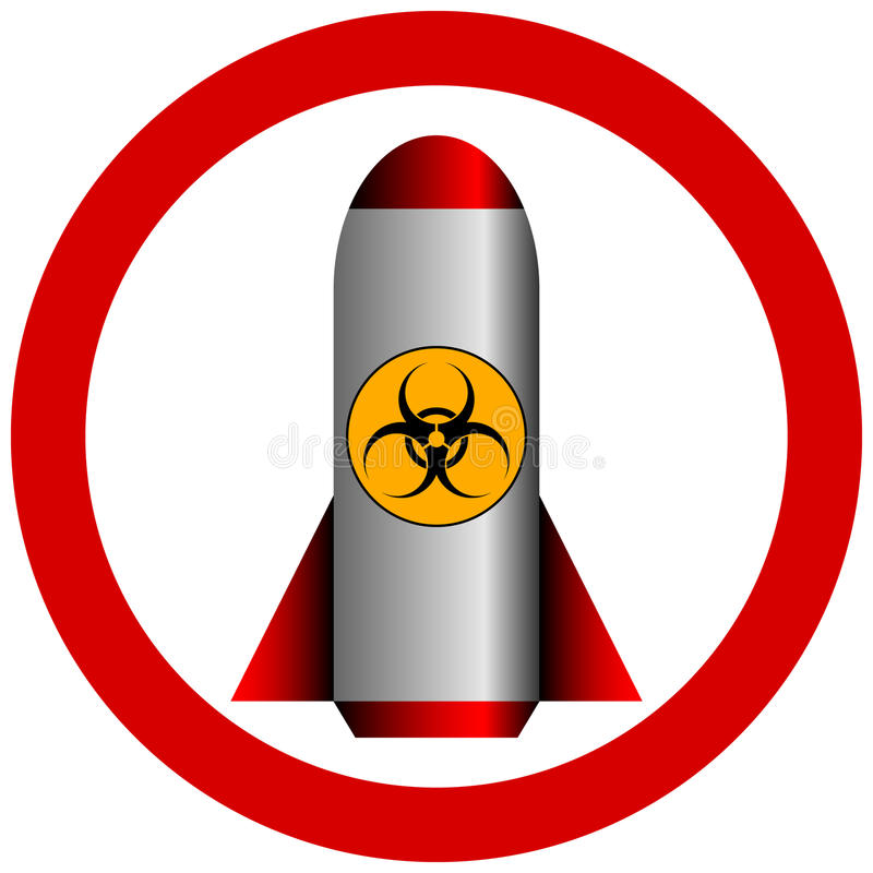 No biohazard rocket. On white background stock illustration