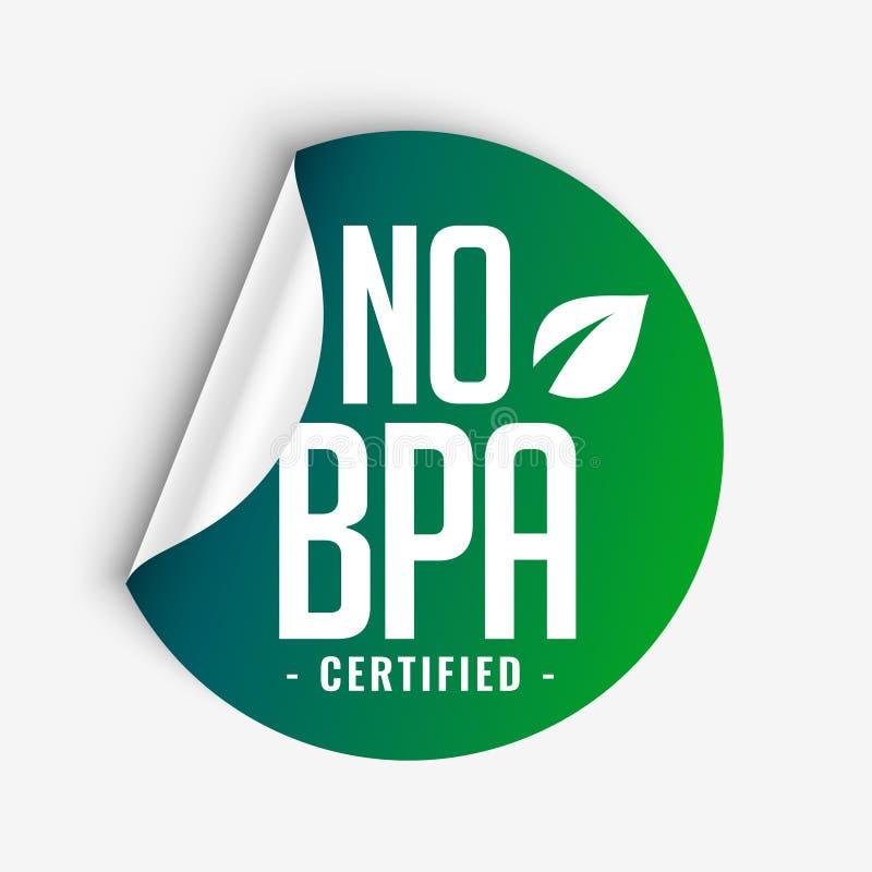 No Bpa Bisphenol A And Phthalates Lcertified Green Sticker Label