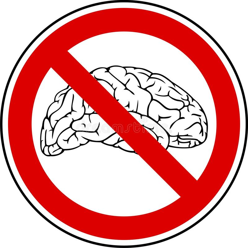 Download No brain - no pain stock vector. Image of brain, brainless - 17954246