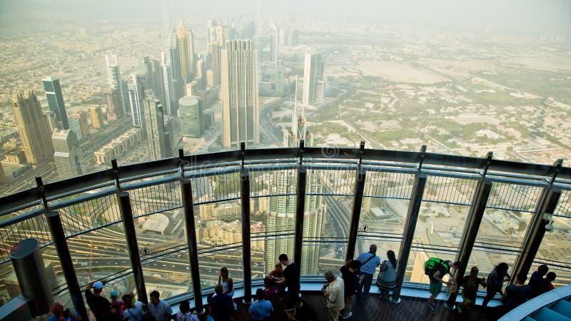 No Burj superior Khalifa, Dubai, UAE fotos de stock