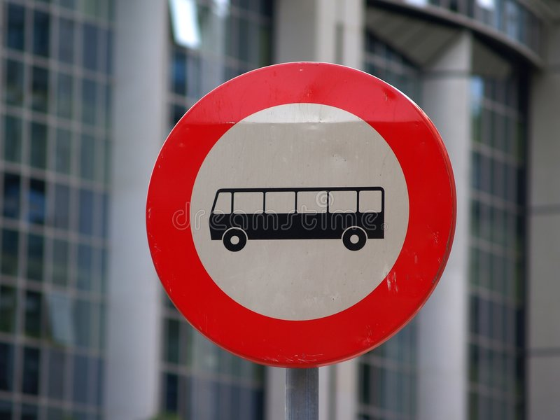 No bus allowed royalty free stock image