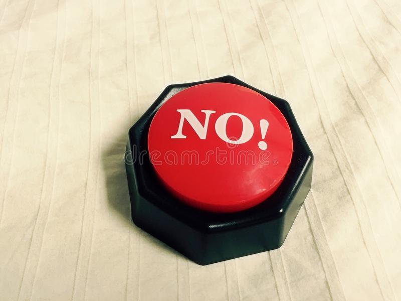 No Button royalty free stock image