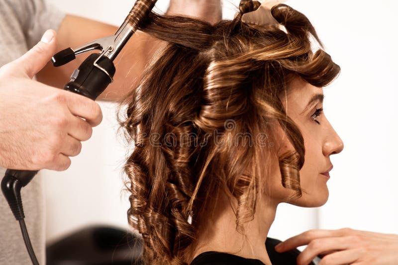 No cabeleireiro fotografia de stock