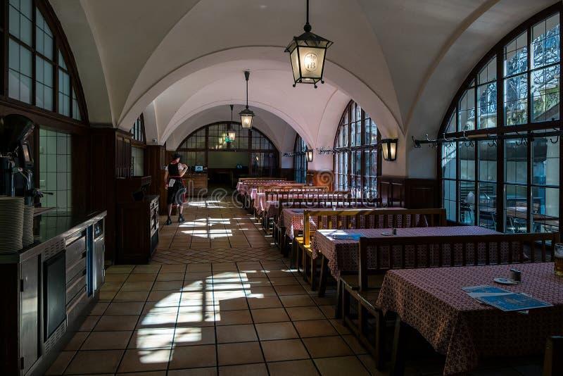 No café A cidade de Munich bavaria germany foto de stock