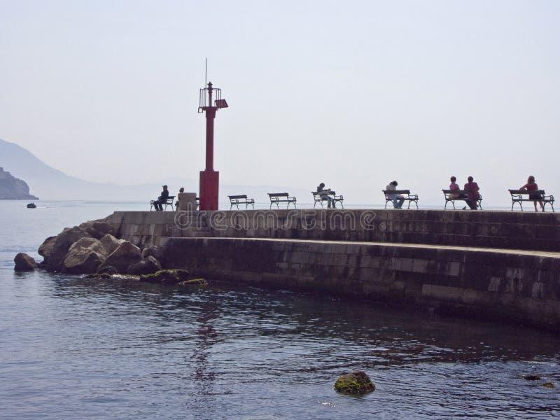 No cais em Dubrovnik foto de stock royalty free