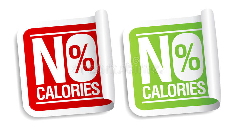 No Calories Stickers. Royalty Free Stock Photography