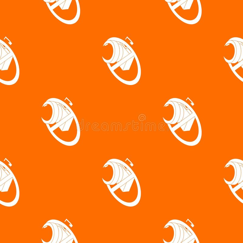 No camera pattern vector orange vector illustration