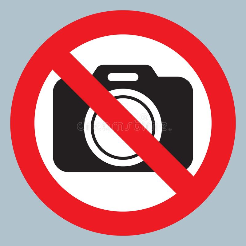 Smoke puff icon vector illustrationNo cameras allowed sign. Red prohibition no camera sign. No taking pictures, no photographs sig vector illustration