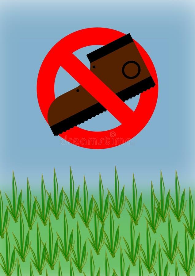 No camine en hierba fotos de archivo