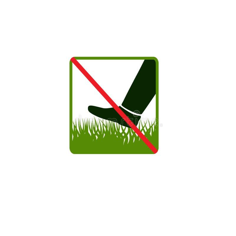 No camine en hierba ilustración del vector