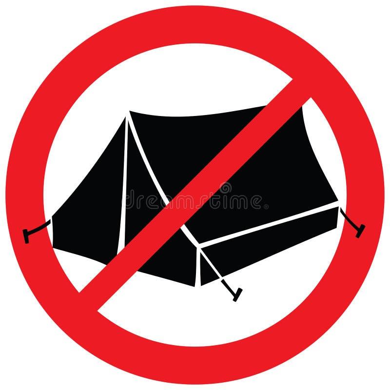 Free No Camping Sign Royalty Free Stock Photos - 112768328