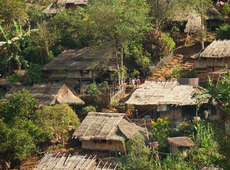 No campo de refugiados burmese imagem de stock royalty free