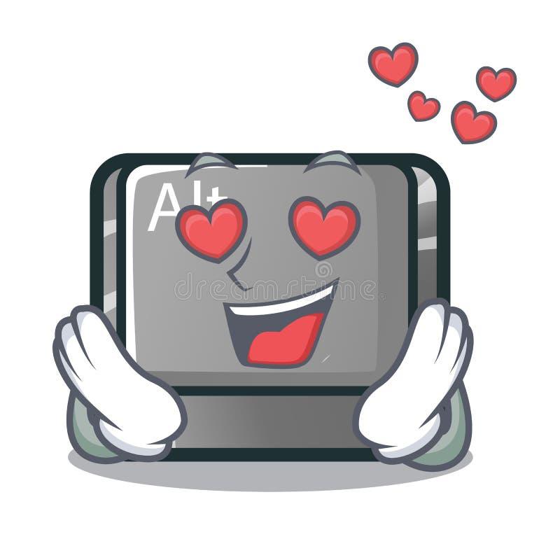 No caráter do alt do amor o botão uniu o teclado ilustração do vetor