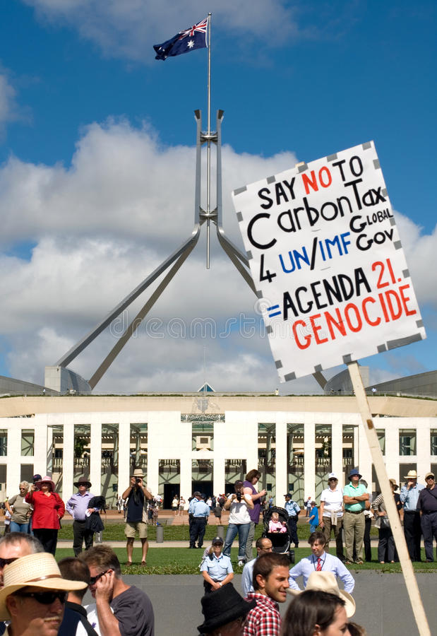 Download No Carbon Tax Rally Editorial Image - Image: 18918330