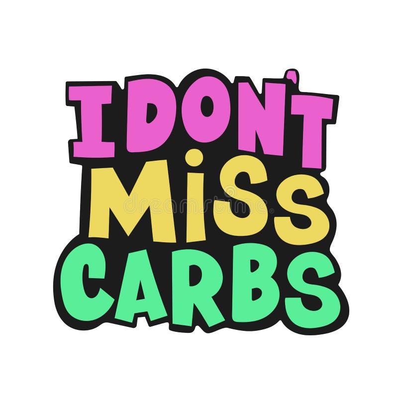 Free NO CARBS Health Nutrition Problem Vector Illustration Set Stock Image - 143124641