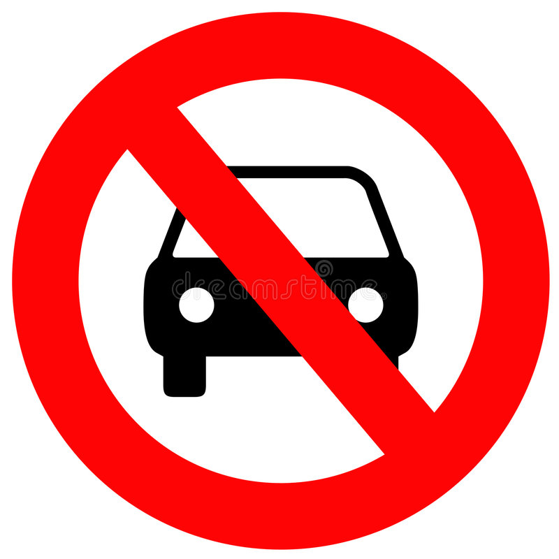 Download No Cars Allowed stock illustration. Image of signal, design - 2501213