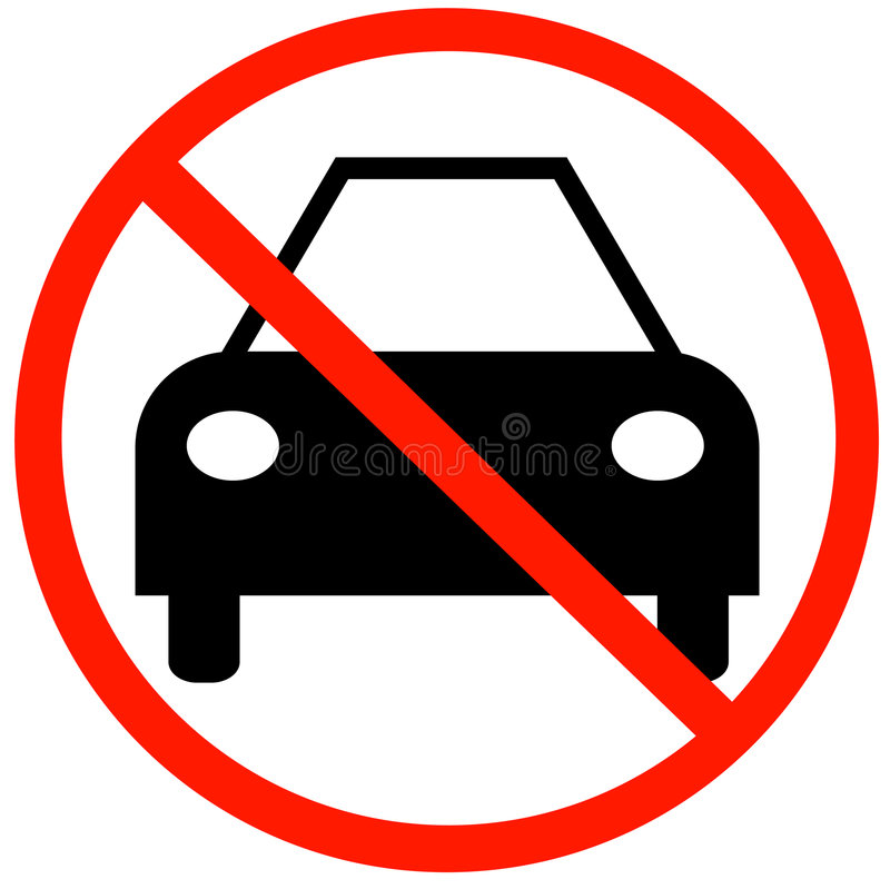 No Cars Allowed Royalty Free Stock Image
