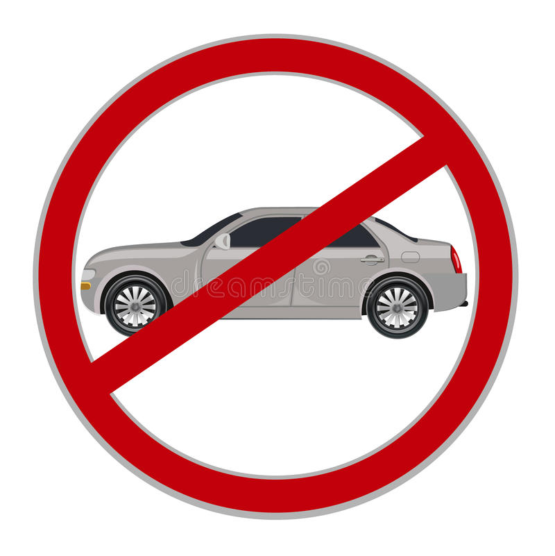 No cars allowed sign, no parking, vector illustration vector illustration