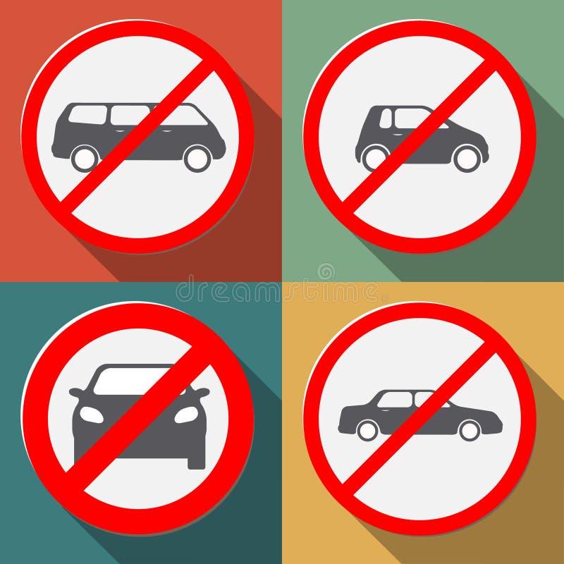 No cars allowed vector illustration