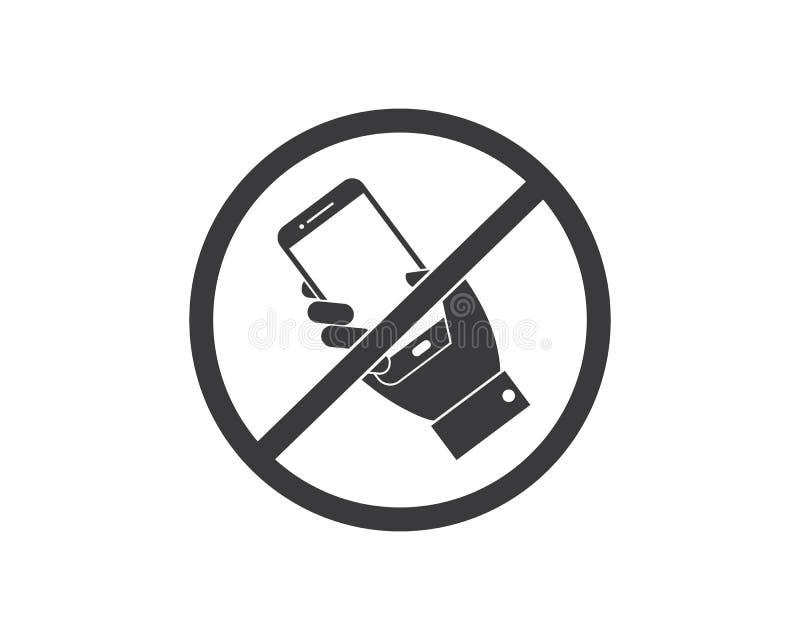 no cell phone,mobile phone prohibited illustration royalty free illustration