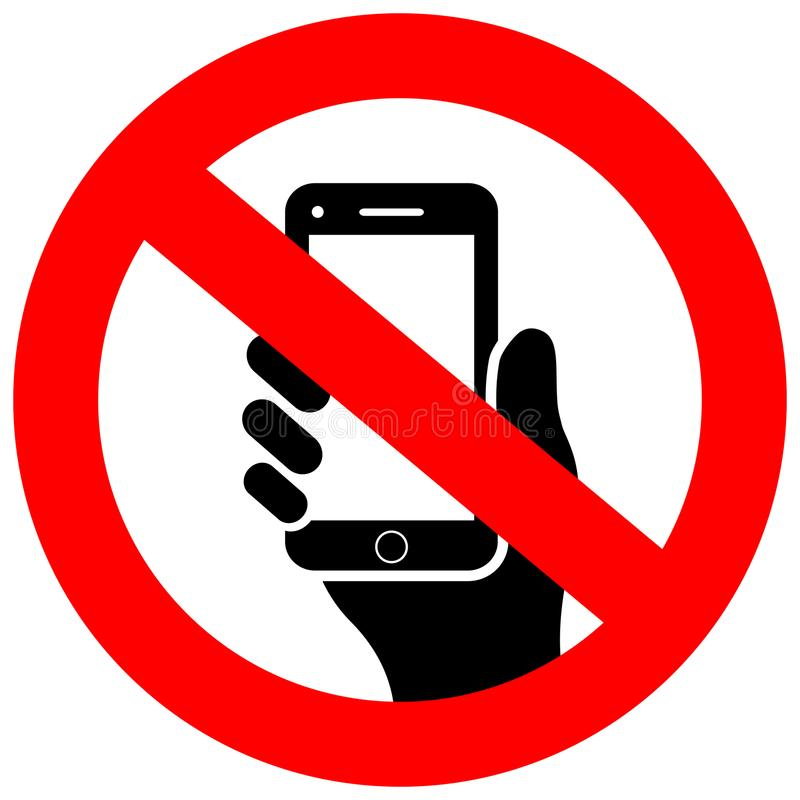 No cell phone vector sign vector illustration