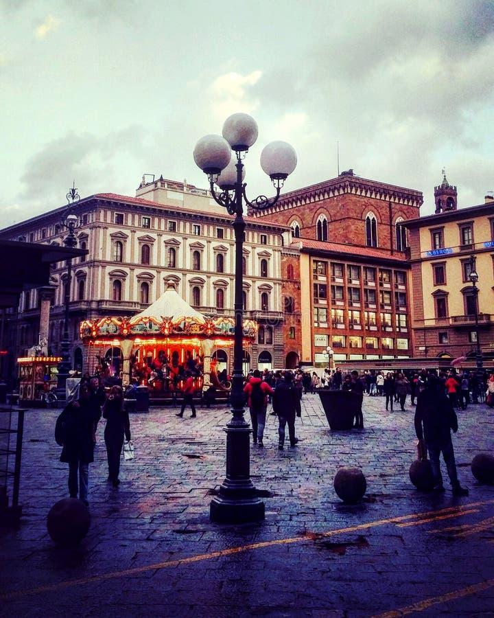 No centro de Florença imagem de stock