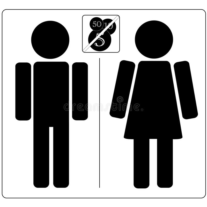 Download No Charge Toilet stock illustration. Illustration of couple - 11834627