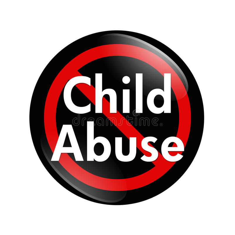 Free No Child Abuse Button Stock Image - 23468711