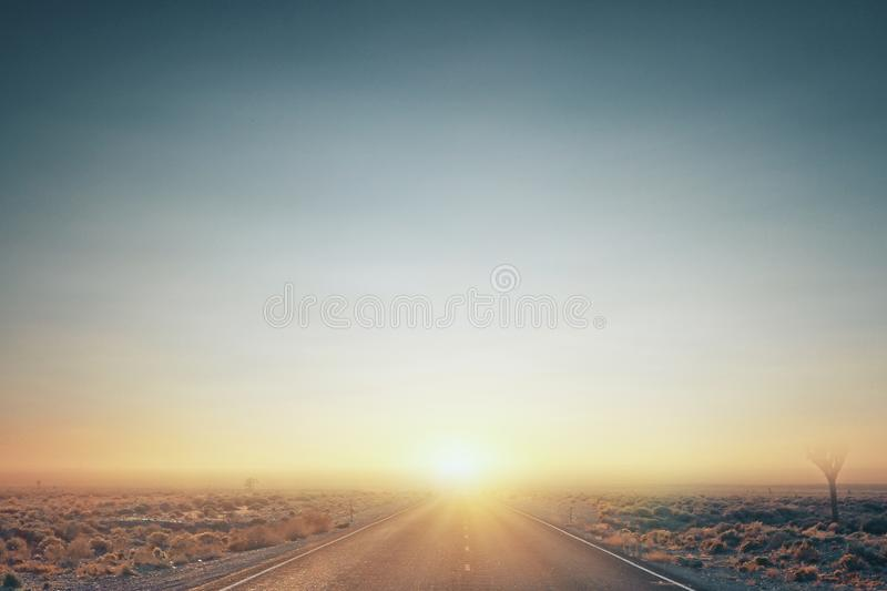 Clear sunset sky in desert royalty free stock photography