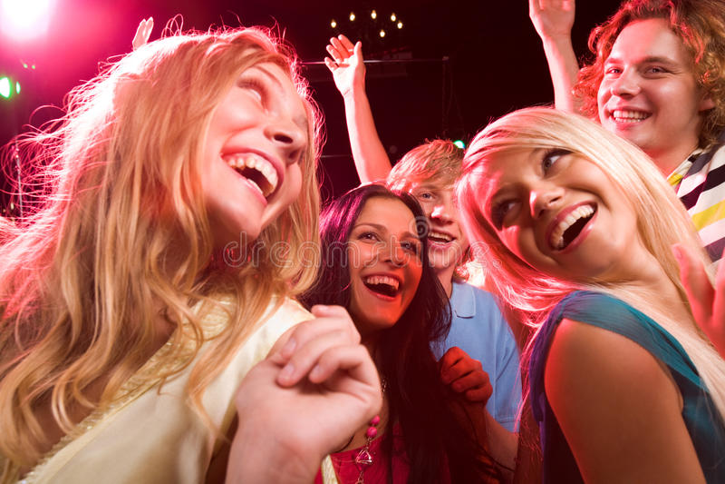 No clube nocturno fotografia de stock