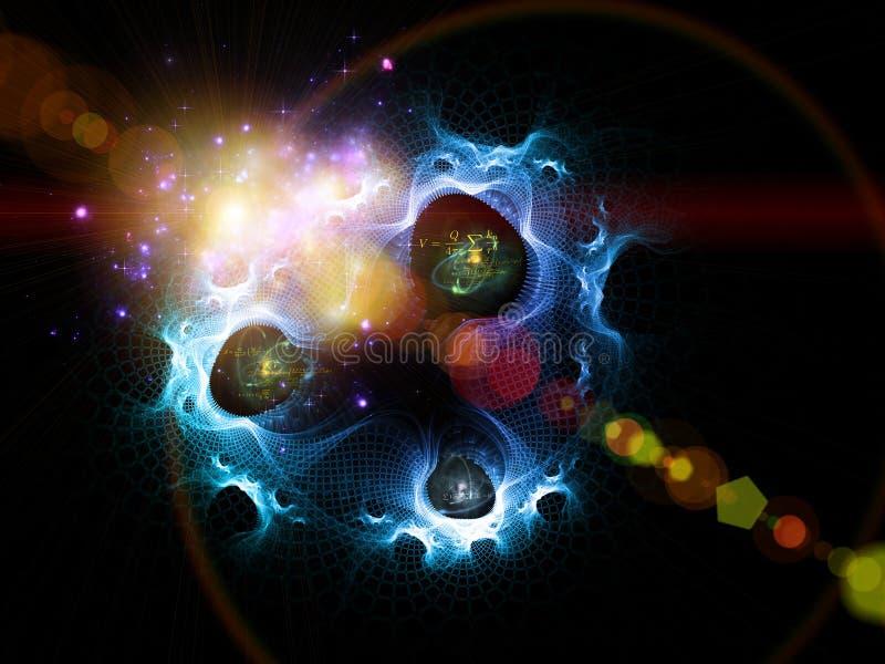 No começo era o quantum ilustração stock