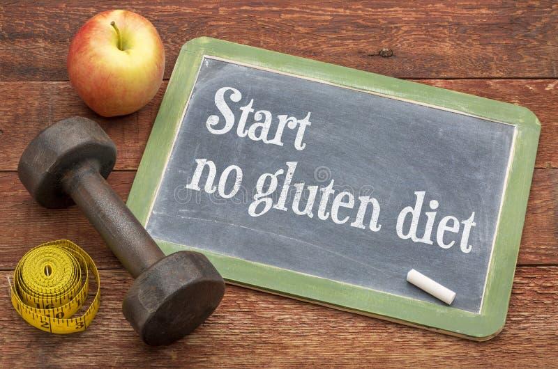 No comience ningún consejo de la dieta del gluten imagen de archivo libre de regalías