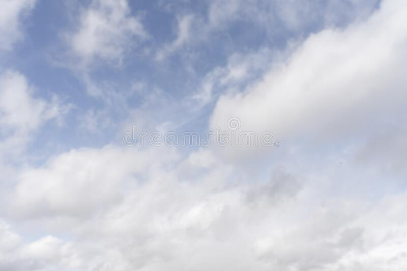 No contrasting sky with cloud. No contrasting blue sky with clouds. natural nice unusual background royalty free stock photos