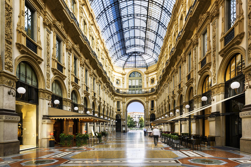 No coração de Milão, Itália imagens de stock