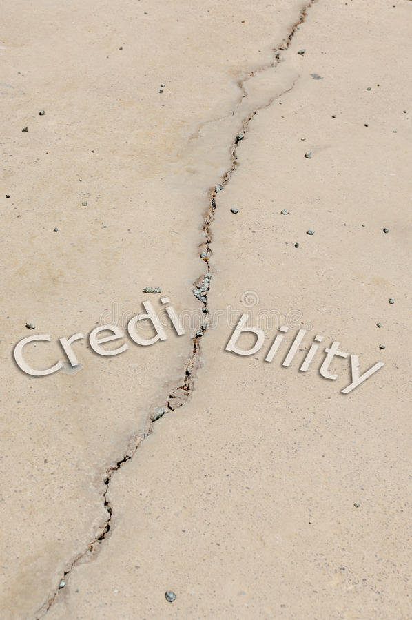 No credibility. Concept or metaphor for a no credibility either in business or personal life stock photography