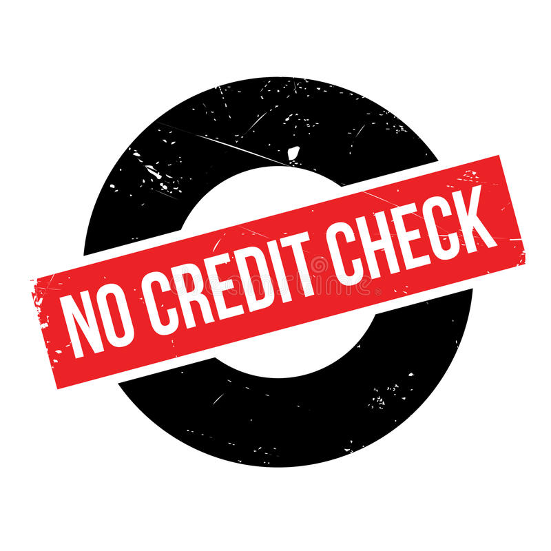 No Credit Check Rubber Stamp Stock Image