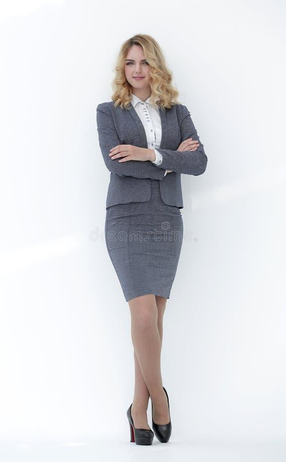 No crescimento completo Mulher de negócio confiável foto de stock royalty free