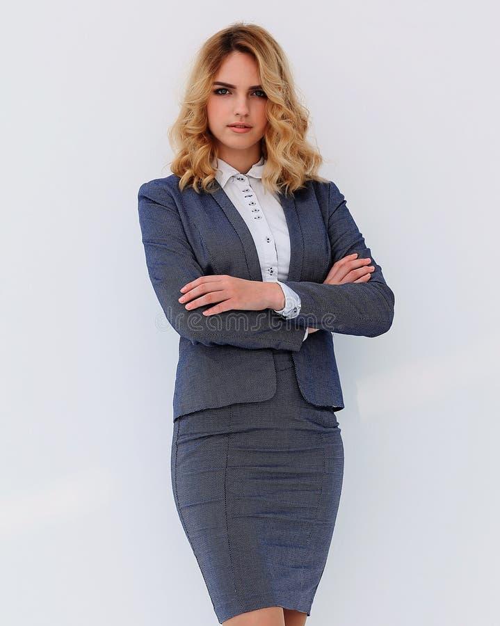 No crescimento completo Mulher de negócio confiável fotos de stock