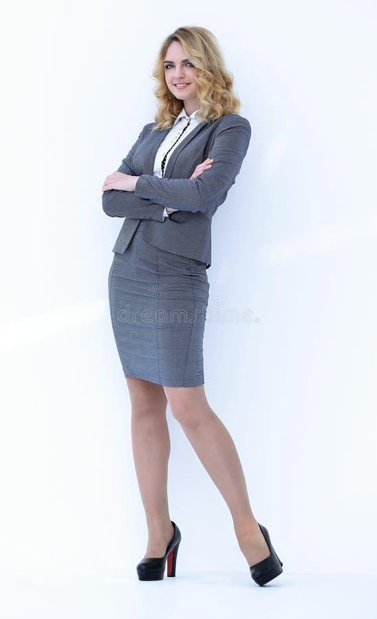 No crescimento completo Mulher de negócio confiável foto de stock