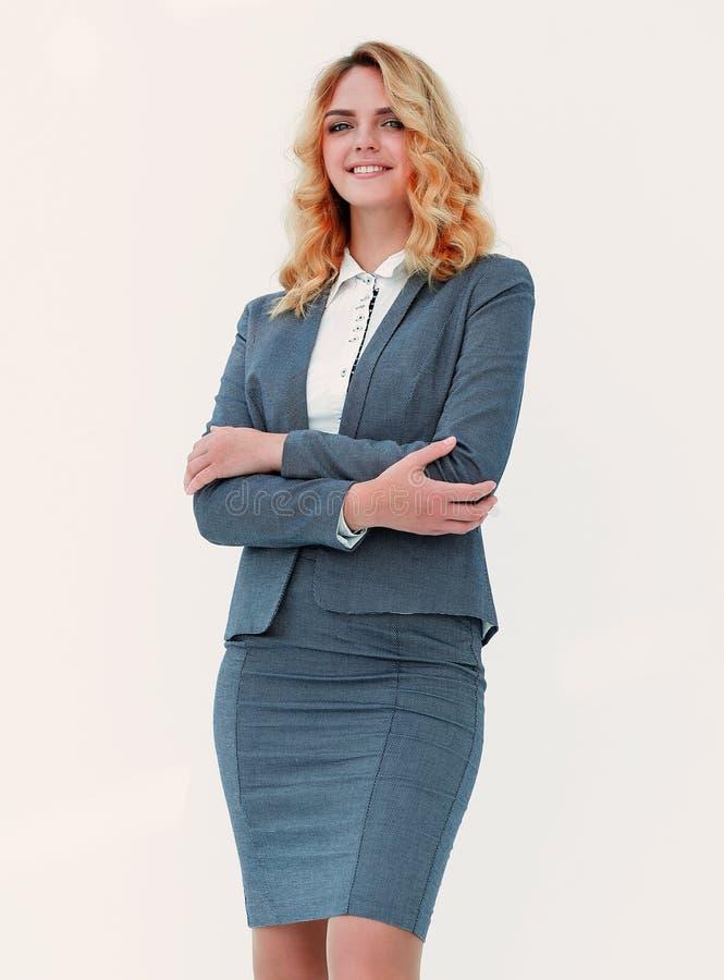 No crescimento completo Mulher de negócio confiável imagens de stock royalty free