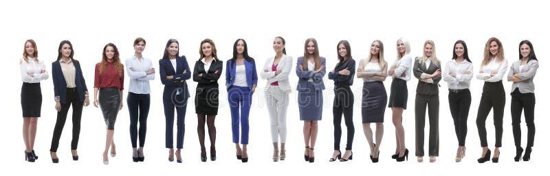 No crescimento completo um grupo de mulheres de negócios bem sucedidas foto de stock