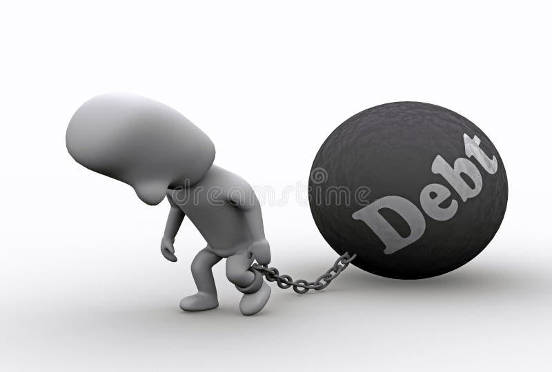 No débito ilustração stock