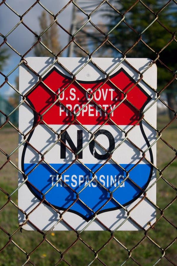 No. de propiedad del estado de los E.E.U.U. fotografía de archivo libre de regalías
