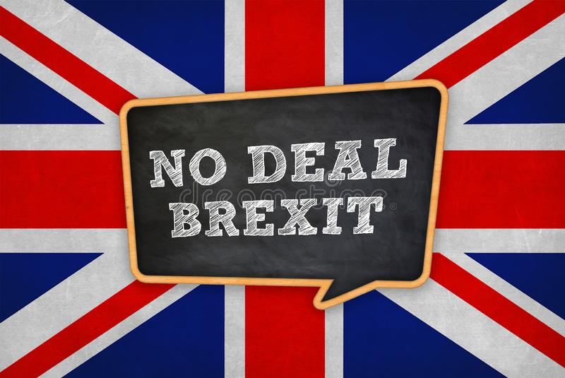 No Deal Brexit -  withdrawal of the United Kingdom. No Deal Brexit withdrawal of the United Kingdom royalty free stock photo