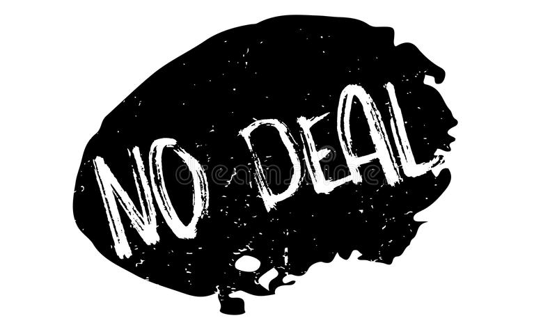 No Deal rubber stamp. Grunge design with dust scratches. Effects can be easily removed for a clean, crisp look. Color is easily changed royalty free illustration