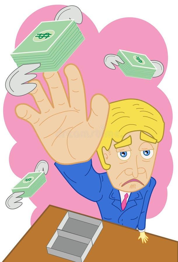 No deje su dinero volar lejos de usted ilustración del vector