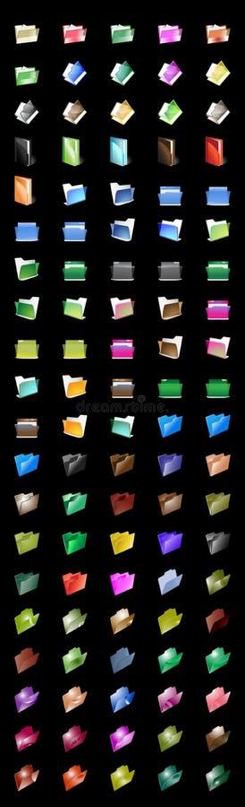 No. della cartella Crystal_100 delle icone fotografie stock libere da diritti