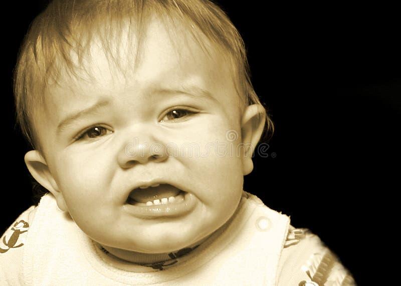 No demasiado feliz imagen de archivo libre de regalías